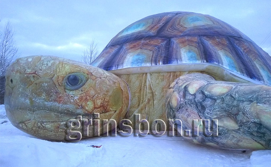 Надувной ангар черепаха
