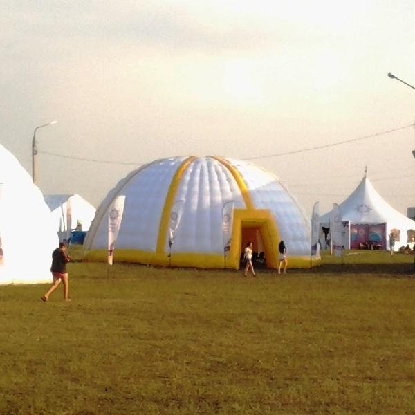 шатер в аренду, надувной купол