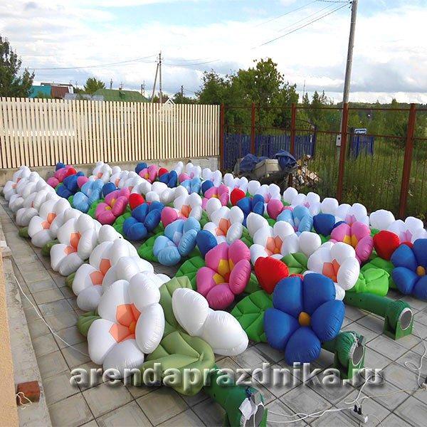 надувные цветы, надувные шарики, воздушные шары