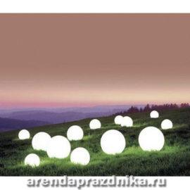воздушный шар с подсветкой, формление шарами