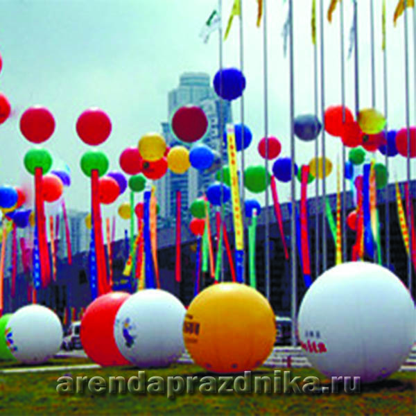 шар, надувной шар, световой шар, аренда декораций