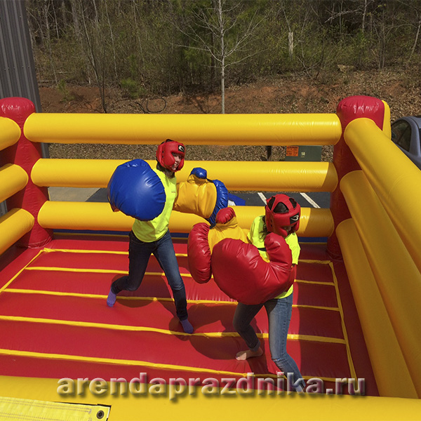 надувной ринг, командные игры, гигантские перчатки
