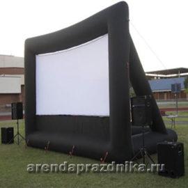 надувной щит, рекламный щит, надувной экран, уличный кинотеатр