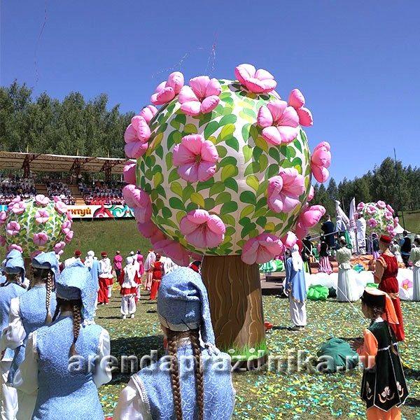 сабантуй, майдан, праздничные украшения, надувные декорации