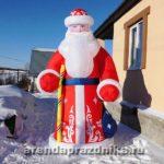 Надувной дед мороз, новогодние декорации, украшение шарами