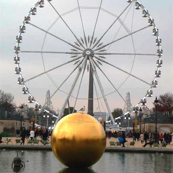 воздушный шар,зеркальный шар на прокат, золотая сфера в аренду
